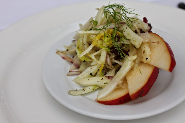 Pear fennel salad with truffle oil served at Hotel Bellwether's Harborside Bistro / Credit: Bellingham Whatcom County Tourism