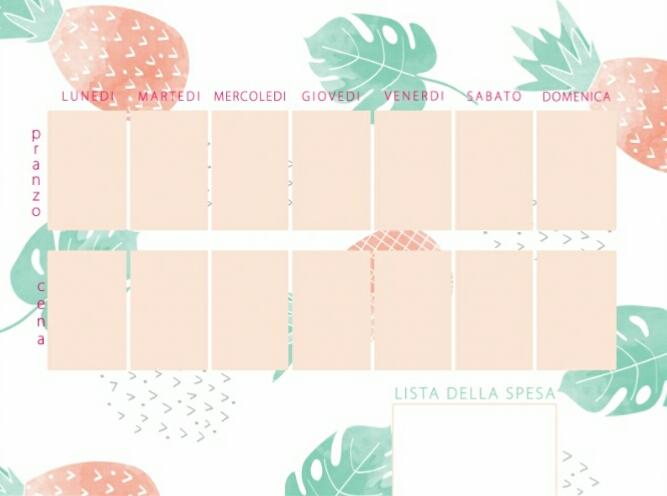 il blog di el week food planner