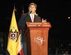 """Raúl Diez Canseco Terry, fundador presidente de USIL: """"No todos los peruanos pueden estar entre Grau y Bolognesi, Grau el Caballero de los Mares, Belaunde, el Caballero de la Democracia""""."""