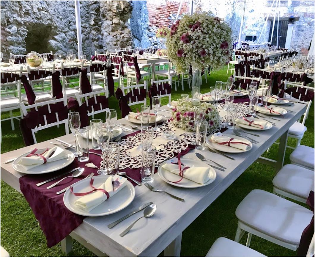 banquetes bodas, eventos empresariales, alquiler de mobiliario