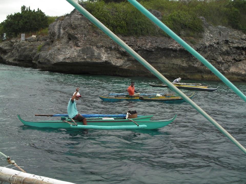 Fishermen near Pescador Island