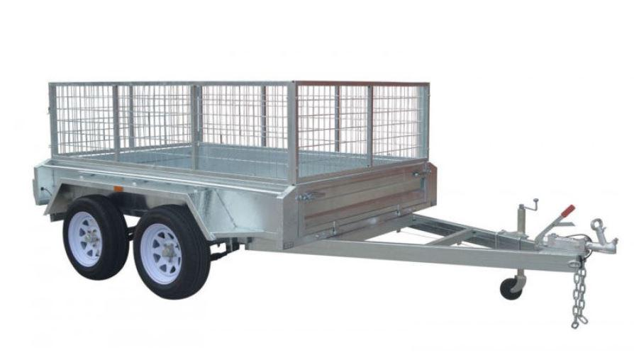 8 x 5 Galvanised Tandem Tradesman Heavy Duty Box Trailer with welded sides
