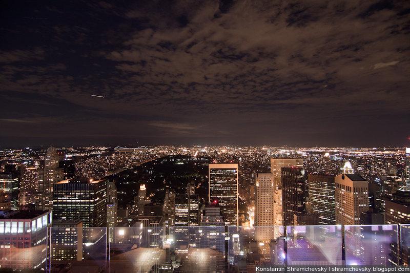 USA New York Manhattan Top of the Rocks Rockefeller Center Observation Deck США Нью Йорк Топ оф зе Рокс Рокфеллер Центр Обзорная Площадка Ночной Нью Йорк Эмпайр Стейт Билдинг
