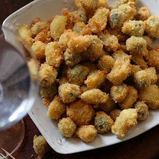 Deep-Fried Garlic Cloves and Green Olives