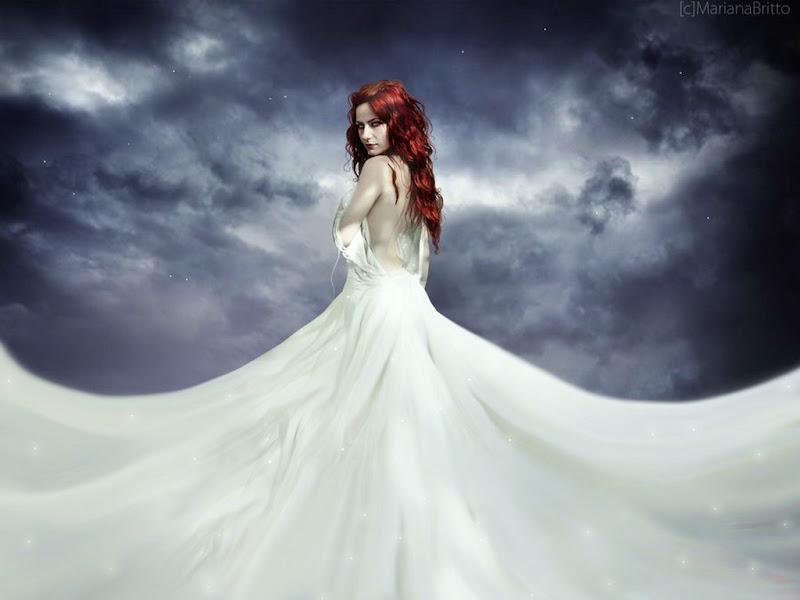 White Dress And Night Sky Girl, Magic Beauties 1