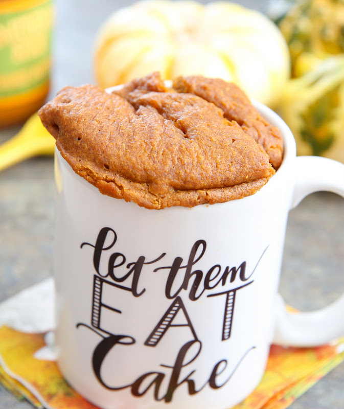 photo of a Pumpkin Cookie Butter Mug Cake