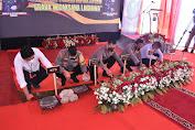 Wakapolda Sumut Letakan batu pertama pembangunan perumahan bersubsidi Polres Tapsel.