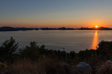 Sunset view on the way to Dubrovnik.