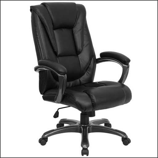 flash furniture leather office chair GO 7194B BK GG