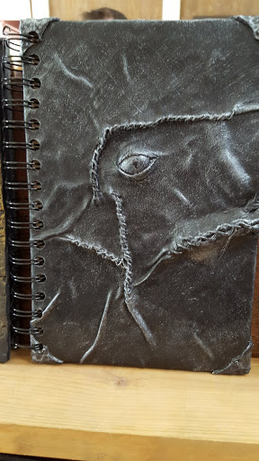 Leather journal at the Ohio Renaissance Festival