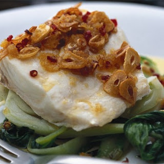Steamed Snapper Fillets With Chilli And Garlic Oil.