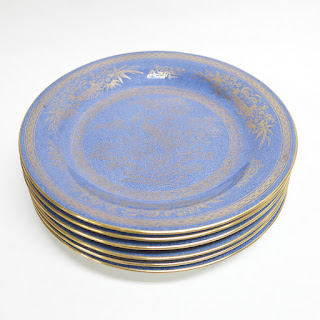 Wedgwood Chinnoisserie Peacock Lustre 6 Plates
