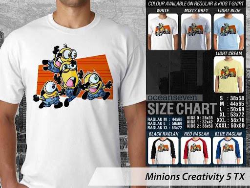 Kaos Kartun Minions Creativity 5 distro ocean seven
