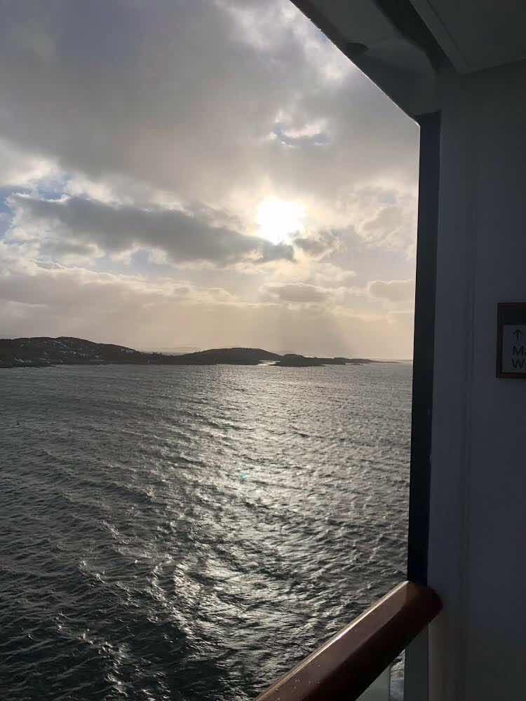 What is that bright object that finally came out of the clouds on our Viking Sky cruise (Source: Palmia Observatory)