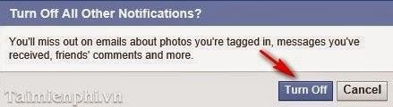 thực hiện chặn việc facebook gửi nhiều email thông báo