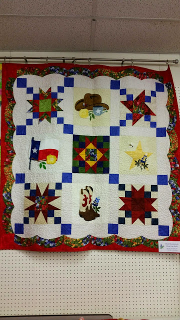A Quilter's Folly - Bluebonnet Shop Hop Quilt