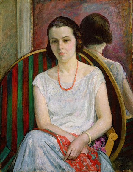 Henri Lebasque - Portrait Of A Woman