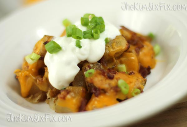 Loaded potato skin casserole