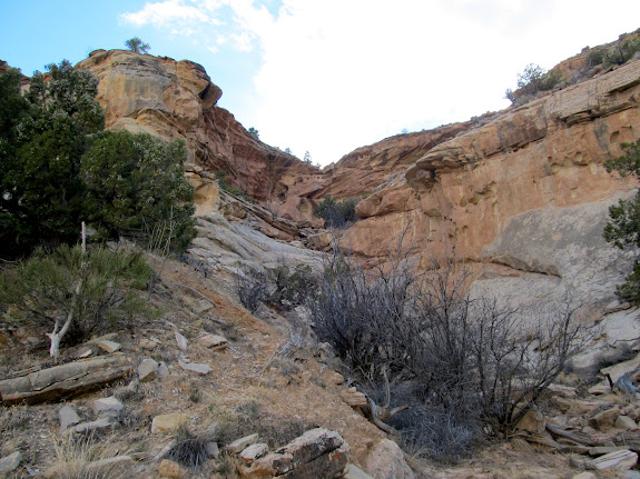 Exit route from McCarty Canyon