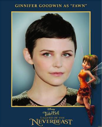 Ginnifer Goodwin is the voice of Fawn in Tinker Bell and the Legend of the Neverbeast #McFarlandUSAEvent #NeverbeastBloggers