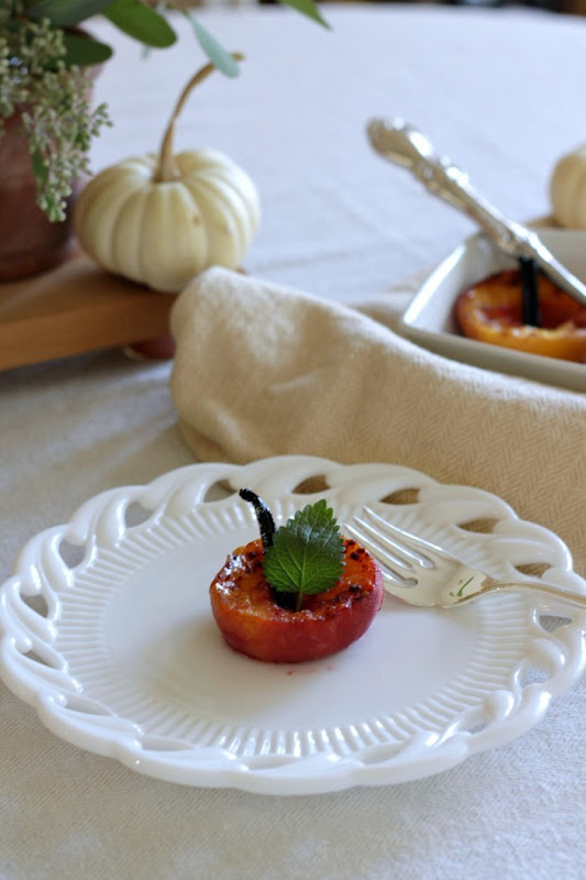 Baked Peaches and White Pumpkins