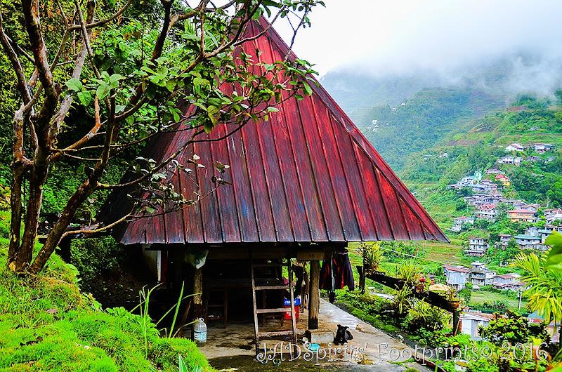 A tradional Ifugao hut near Banaue Museum