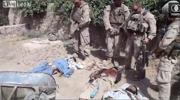 U.S. Marine Corps Urinating Dead Taliban Insurgents