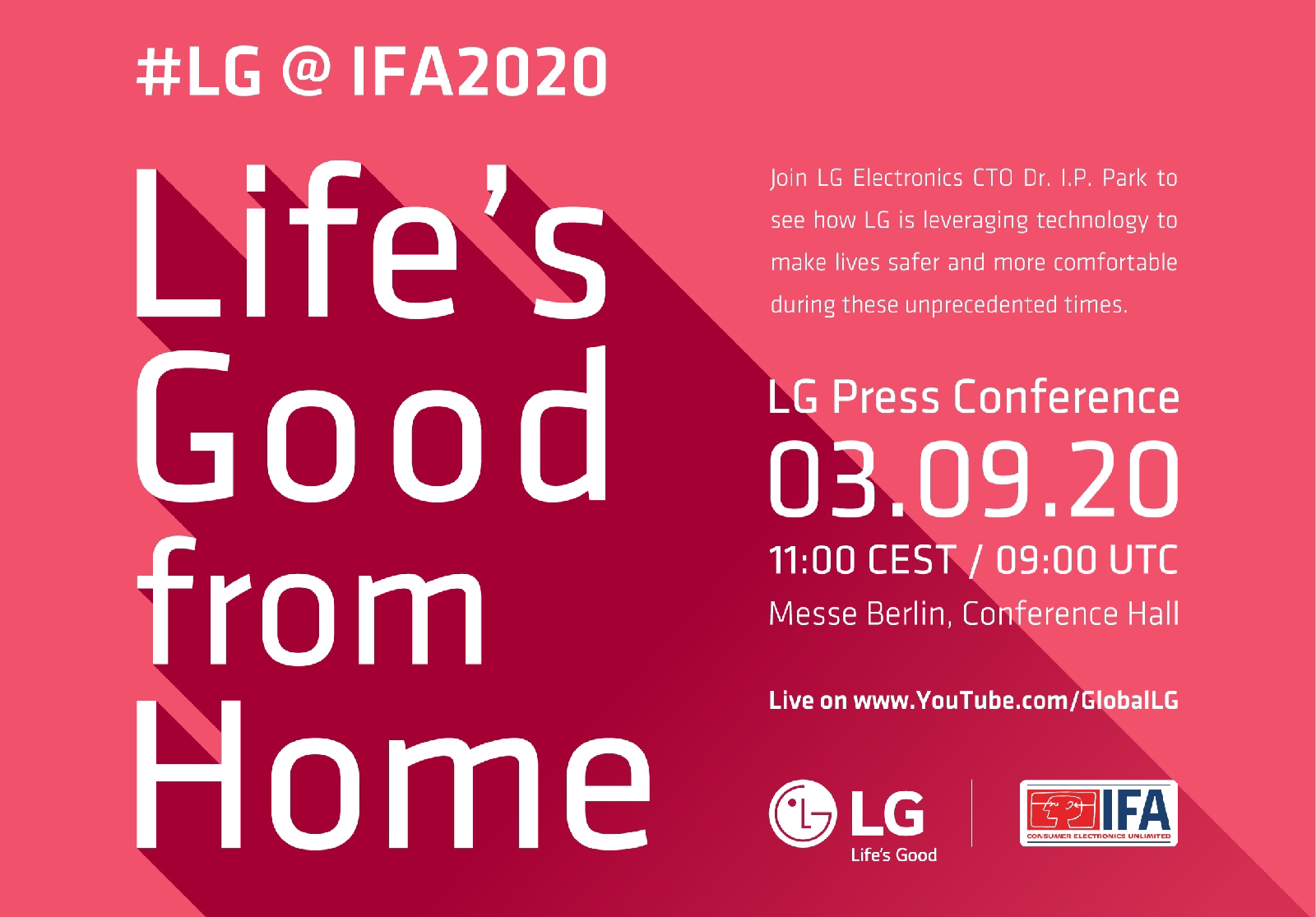 LG เชิญชวนคนไทยเข้าร่วมงาน IFA 2020 ผ่านออนไลน์ ร่วมกับชาติต่างๆ ทั่วโลก