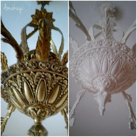Lavado de cara a una vieja l mpara amakuyi detalles - Pintar lamparas de techo ...