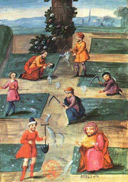 Fig5 Of Abraham The Jew Manuscript The Workers In The Garden, Hermetic Emblems From Manuscripts 2