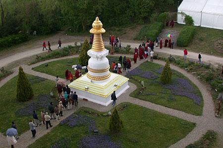 Stupa at Institut Vajra Yogini, France.