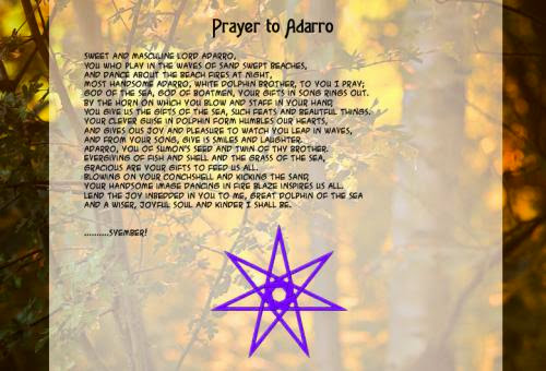 Prayer To Adarro