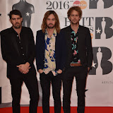 OIC - ENTSIMAGES.COM - Jay Watson, Kevin Palmer and Cam Avery from Tame Impala at the  The BRIT Awards 2016 (BRITs) in London 24th February 2016.  Raymond Weil's  Official Watch and  Timing Partner for the BRIT Awards. Photo Mobis Photos/OIC 0203 174 1069