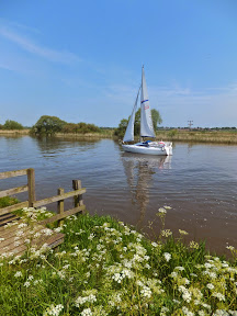 Yacht on the River Yare