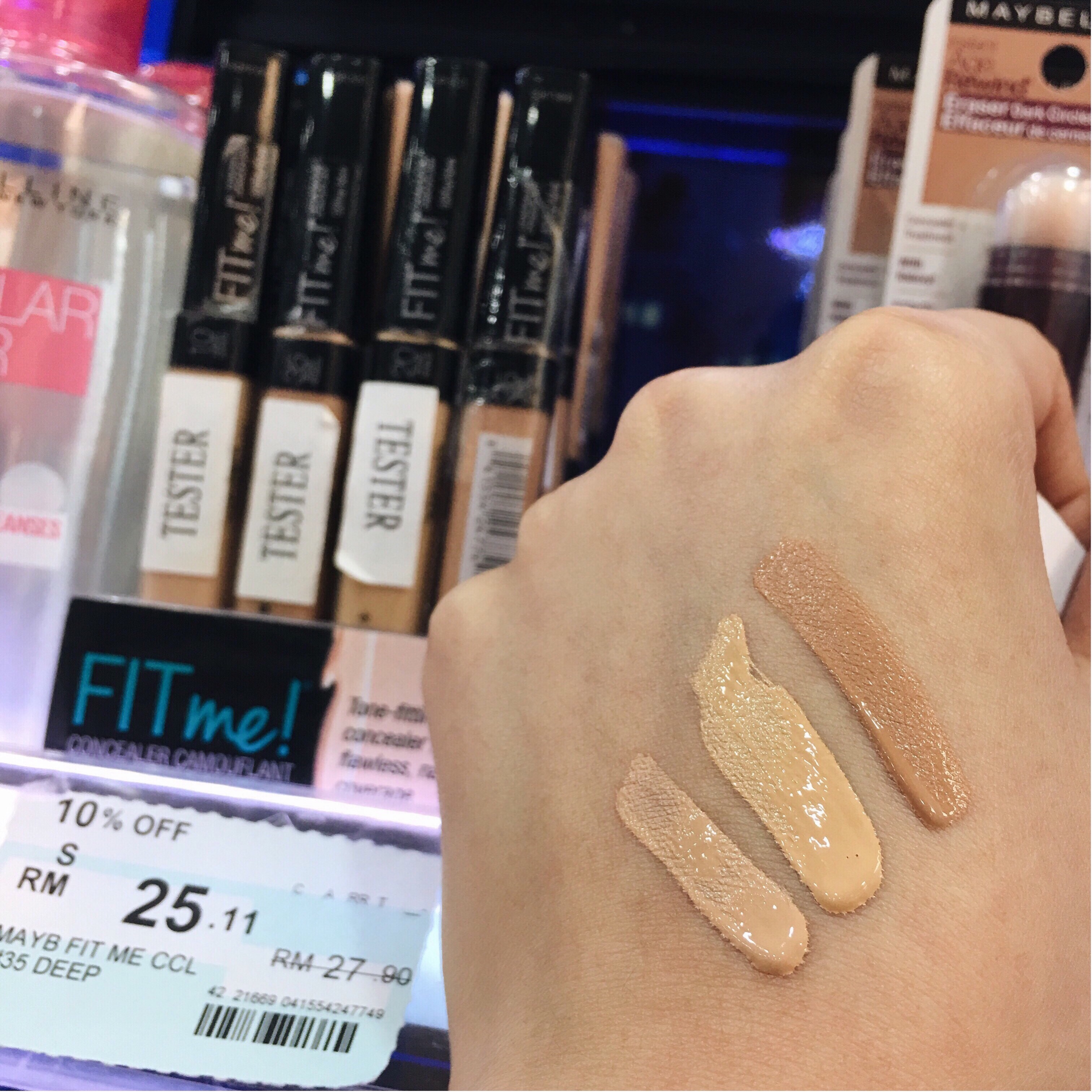 Maybelline Fit Me Concealer Drugstore Malaysia
