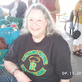 Judy Willox wearing the Class T-Shirt she designed