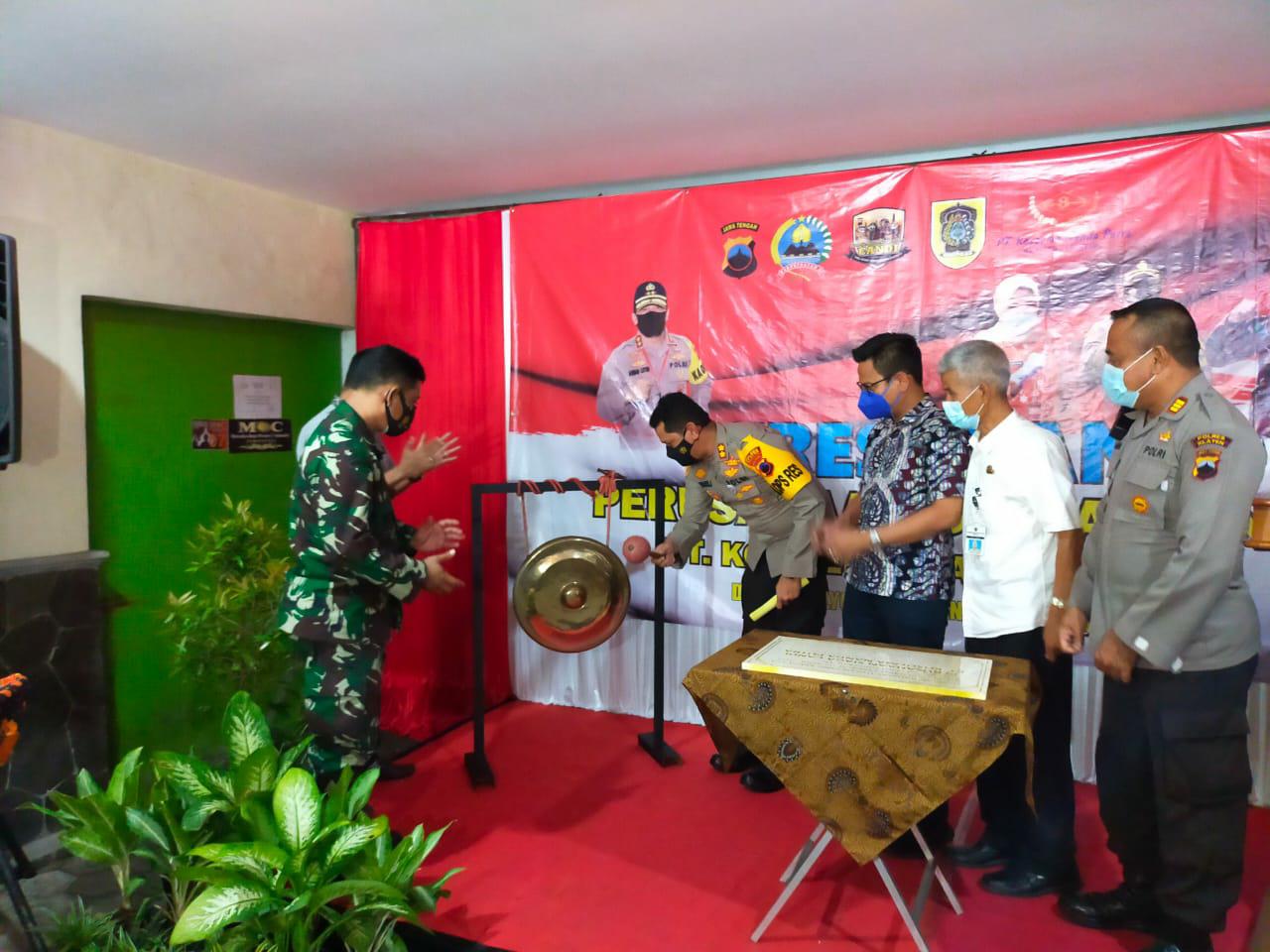 Kapolres Klaten Resmikan Perusahaan Siaga Candi PT. KNP di Pedan