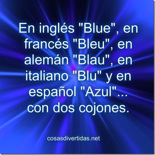 En Inglés Blue En Francés Bleu Cosas Divertidas