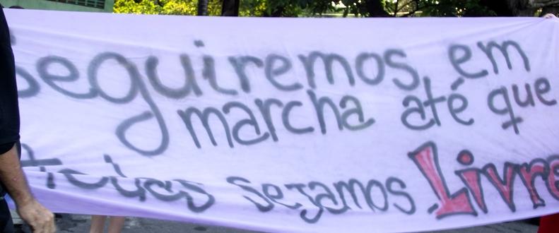 A marcha das vadias de Fortaleza
