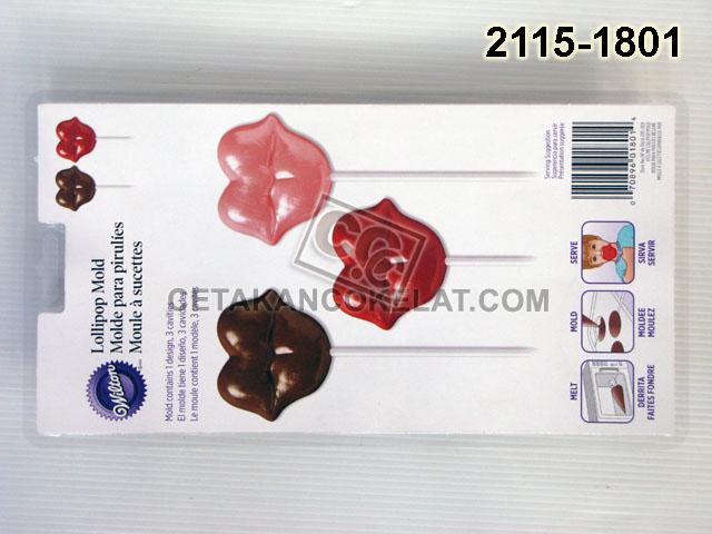Cetakan Coklat Bibir Kiss Me 2115-1801 bibir lips cokelat lolipop lollipop lolypop wilton