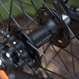 Deore XT disc hubs. Reversed to run a fixed gear.
