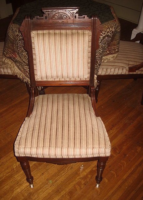 Antique of The Week: Victorian Parlor/Game Chair Set! - Victorian Antiquities And Design: Antique Of The Week: Victorian