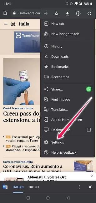 كيفية ترجمة إعدادات متصفح Chrome لمواقع الويب