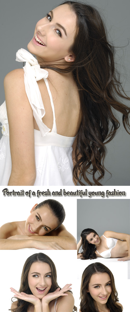 Stock Photo: Portrait of a fresh and beautiful young fashion model