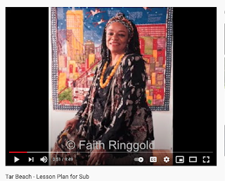 photo from art sub lesson about Faith Ringgold