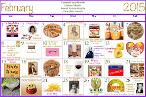 February Food Celebrations Clickable Calendar