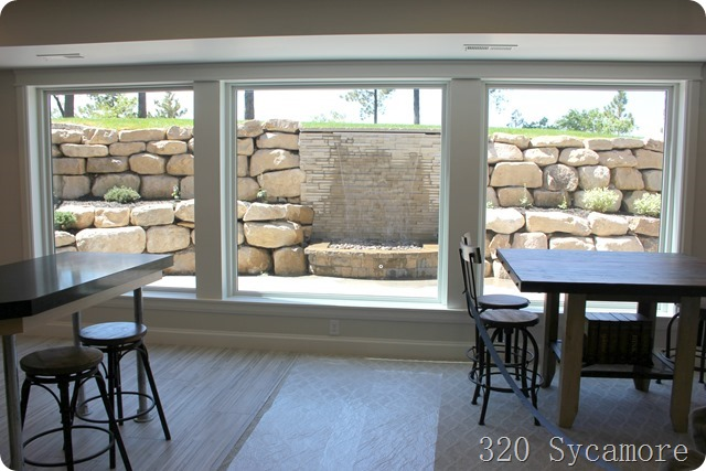 water feature basement patio