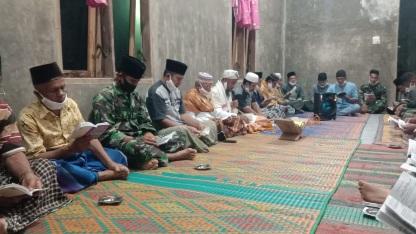 Bacaan Jamaah Menggema di Ruangan  Doa Bersama di TMMD Kodim Tapsel