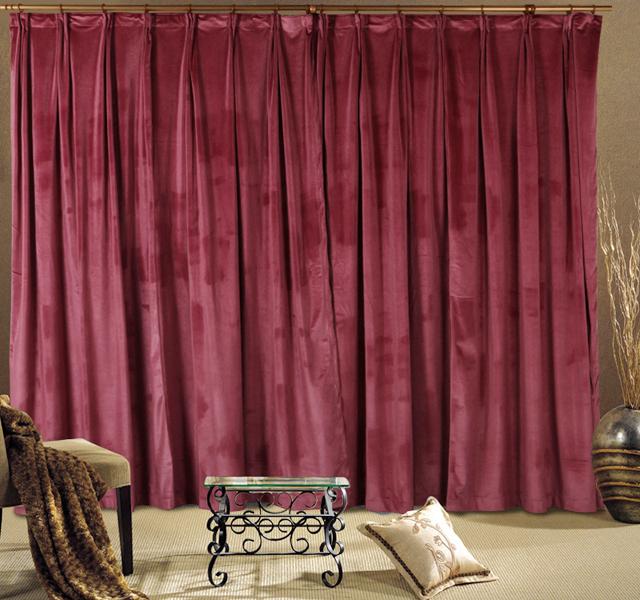 A Pair New Velvet Curtains 2x210x213cm Drop, Dusty Rose