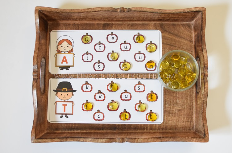 Thanksgiving Themed Uppercase and Lowercase Match